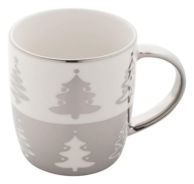 Karácsonyi bögre, ezüst