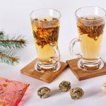 Virágzó zöld tea, organza tasakban